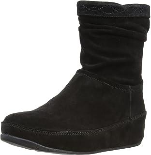 Fitflop Mukluk MOC 2, Boots femme - Bleu (Super Navy),UK:6.5 (EU:40)FitFlop