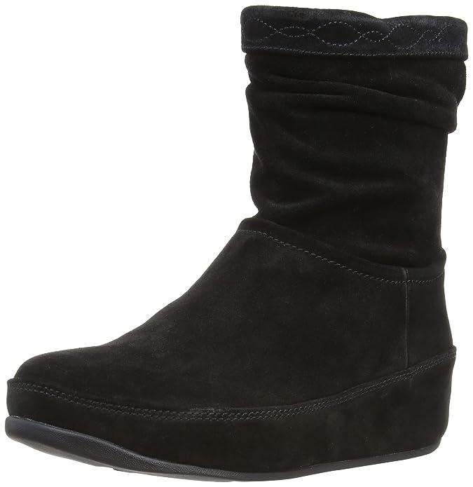 Noir black Suede Femme Eu 38 Fitflop Boots uk Crush Zip 5 XxpqPp