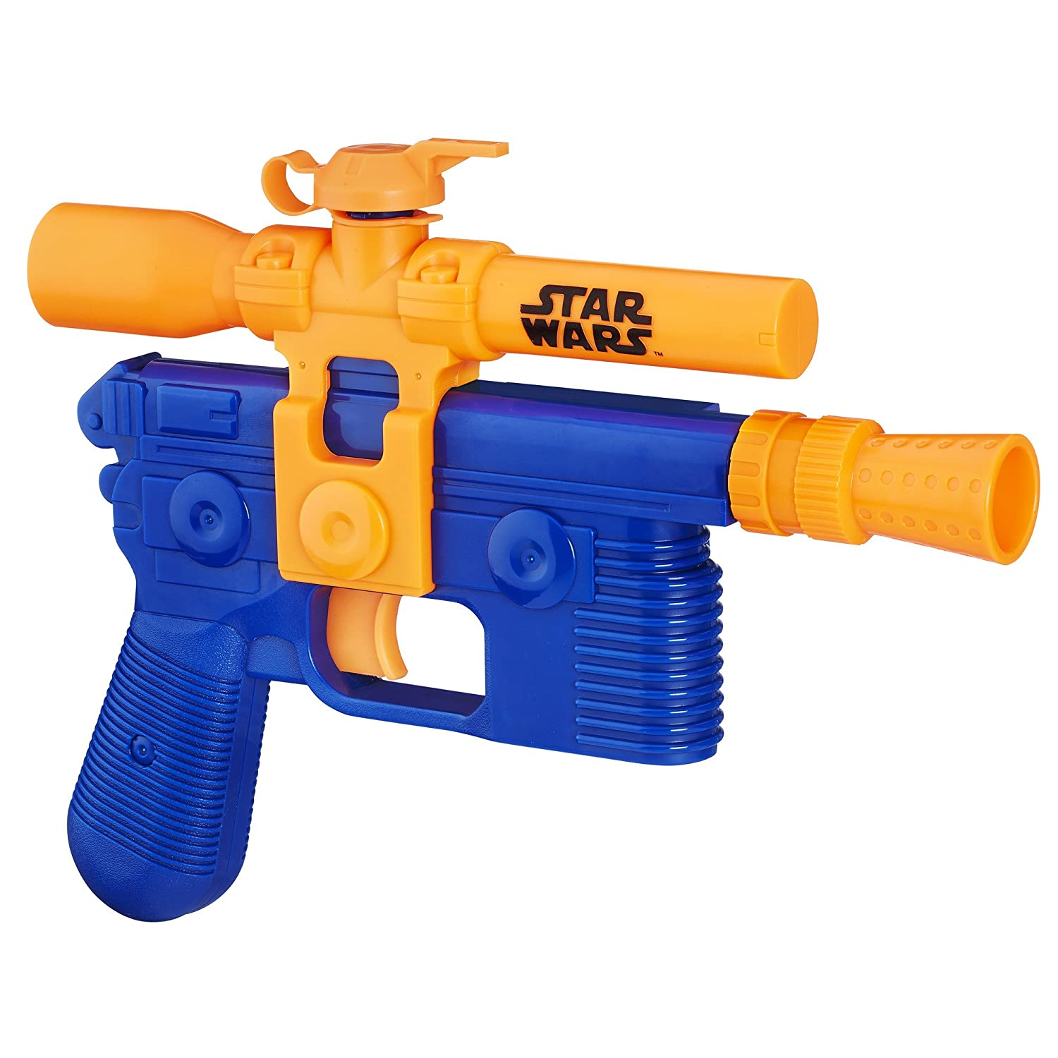 Amazon.com: Star Wars Episode VII Nerf Super Soaker Han Solo Blaster: Toys  & Games