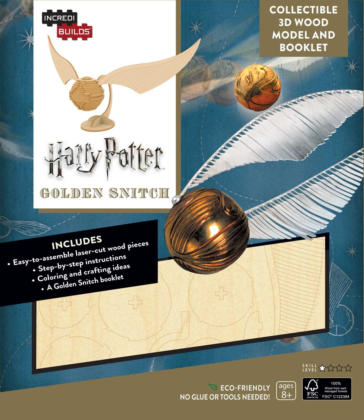 IncrediBuilds Potter Golden Snitch Booklet product image