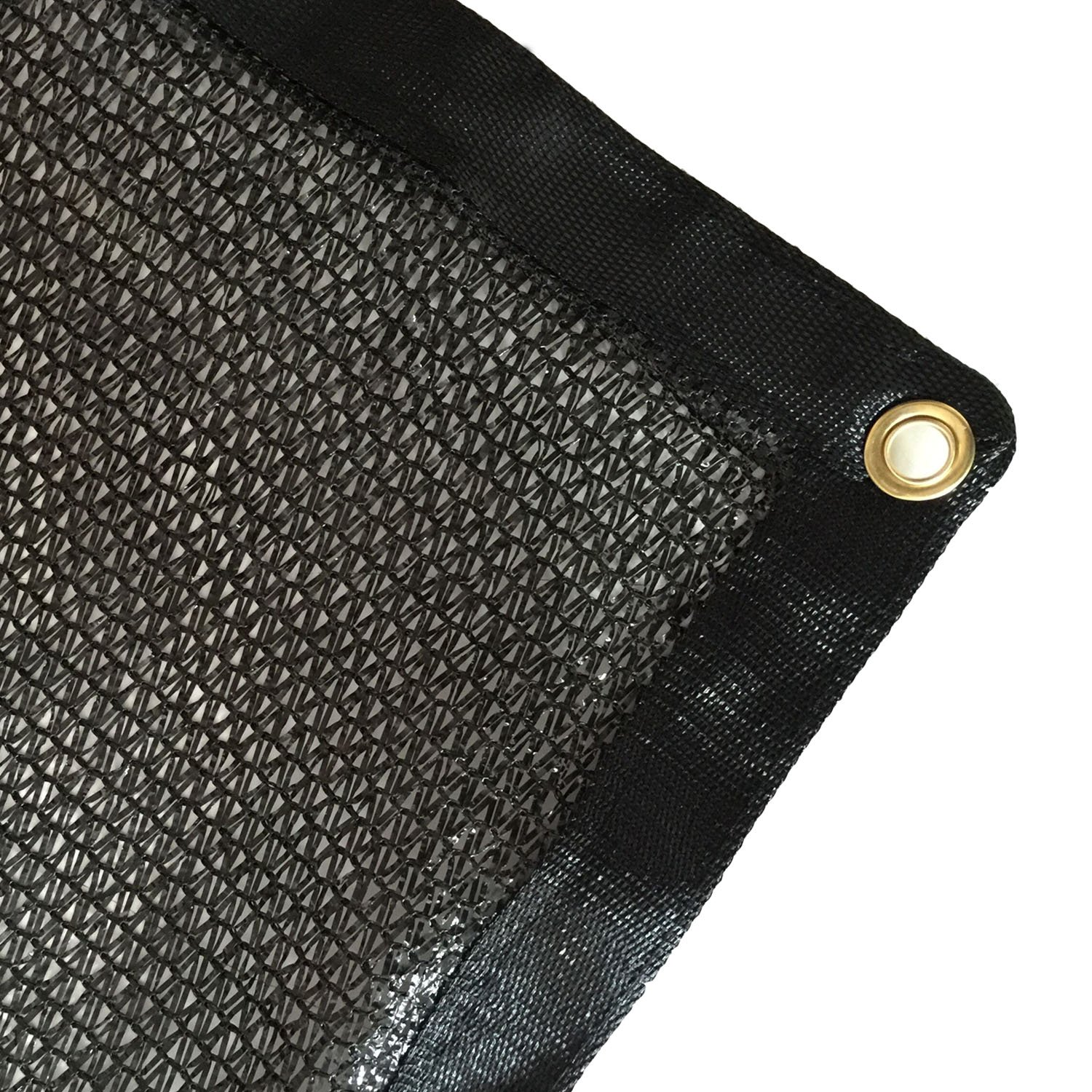 Yisin 40 Black Shade Cloth Taped Edge with Grommets UV 12 ft X 10 ft