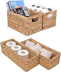StorageWorks Water Hyacinth Storage Baskets Set