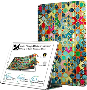 DuraSafe Cases For iPad PRO 12.9 - 1 Gen Slimline Series Lightweight Protective Cover with Dual Angle Stand & Clear PC Back Shell - Damask