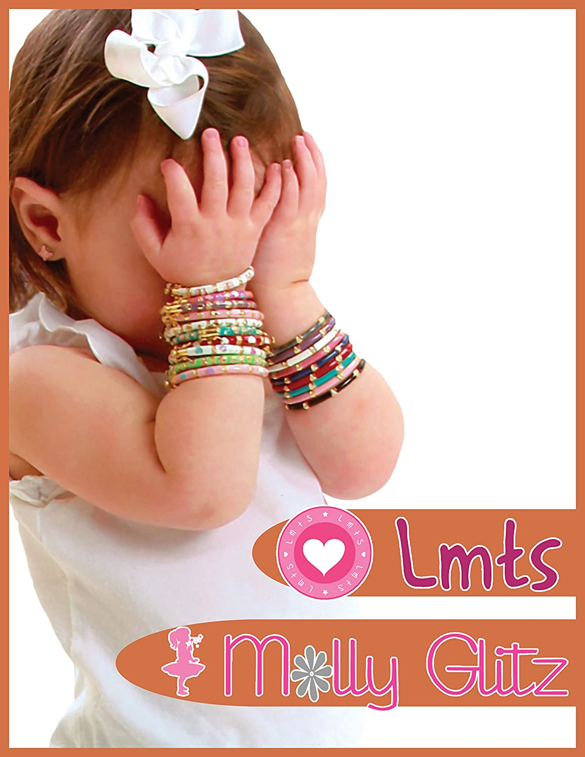 Little Miss Twin Stars Little Miss Flower Girl Mother Of Pearl Bar Chain Necklace Accented With Cz Flower// 15 2