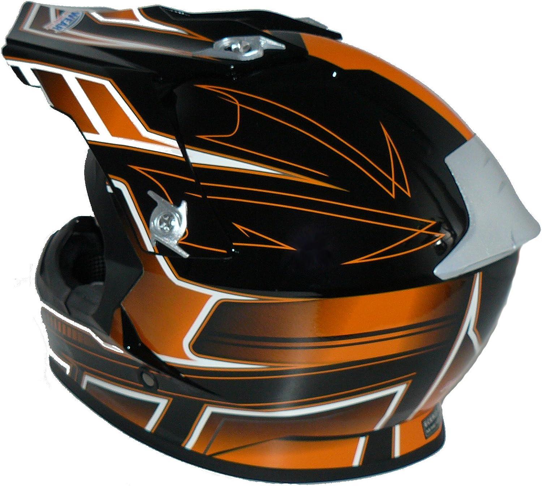 taglia L arancione nero FS603 Protectwear Casco moto Croce casco Enduro