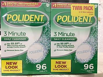 amazon com improved triple mint freshness polident antibacterial