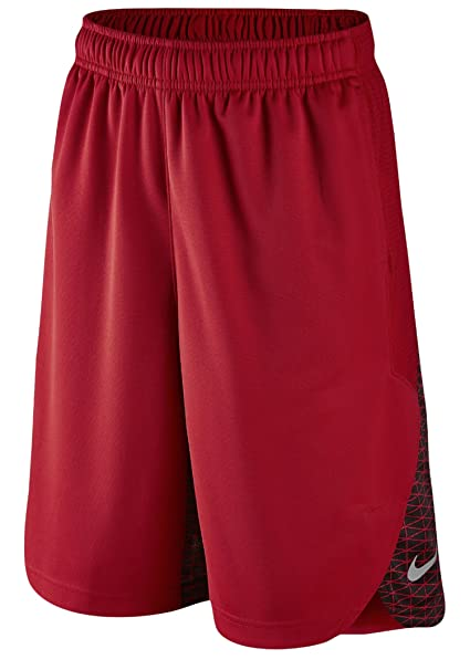 NIKE Lebron Elite RedBlack Shorts - Boys Grade School (Medium (Boys