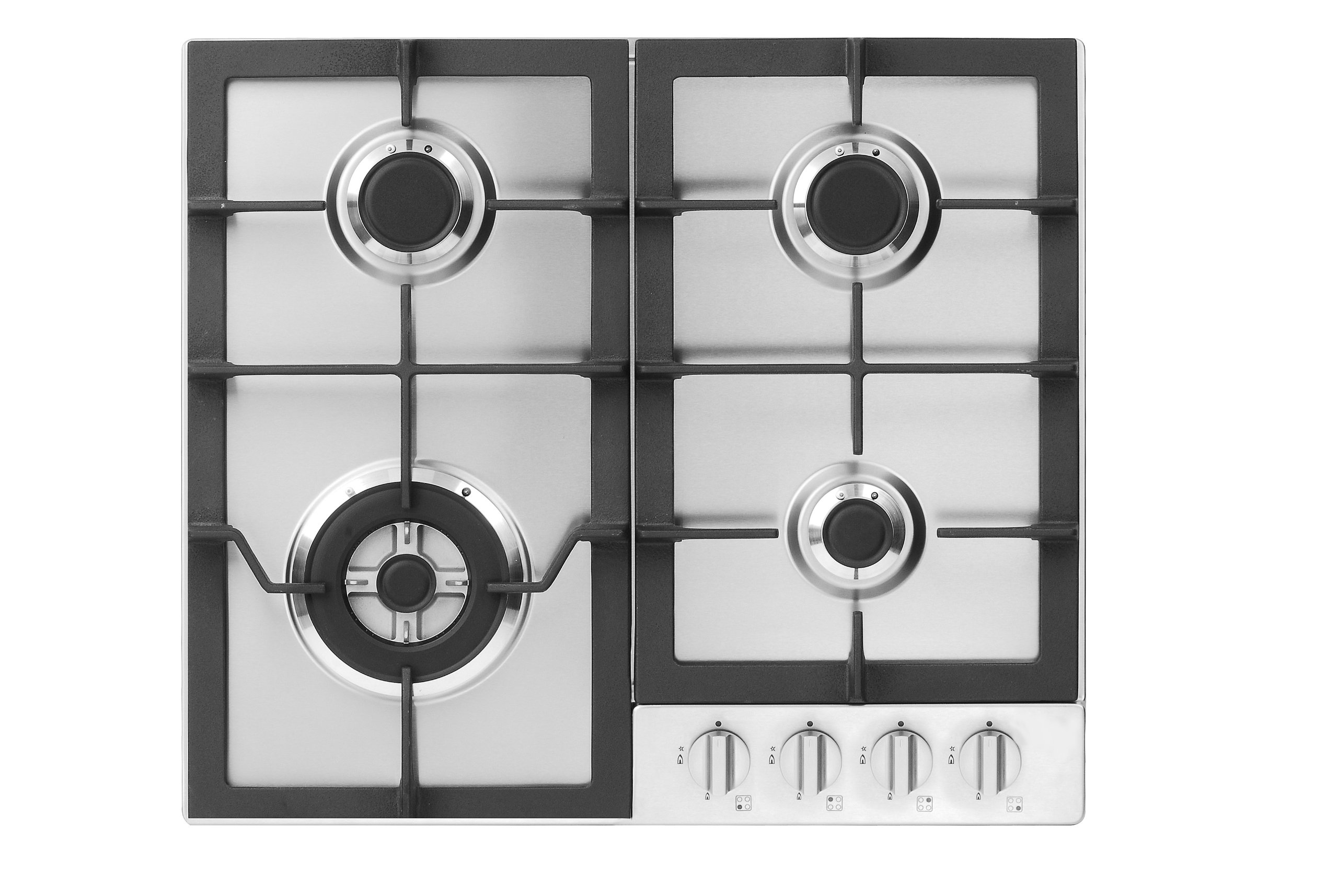 Fagor FA-640STX 4-Burner Gas Cooktop with Universal Ignition, 24-Inch, Stainless Steel