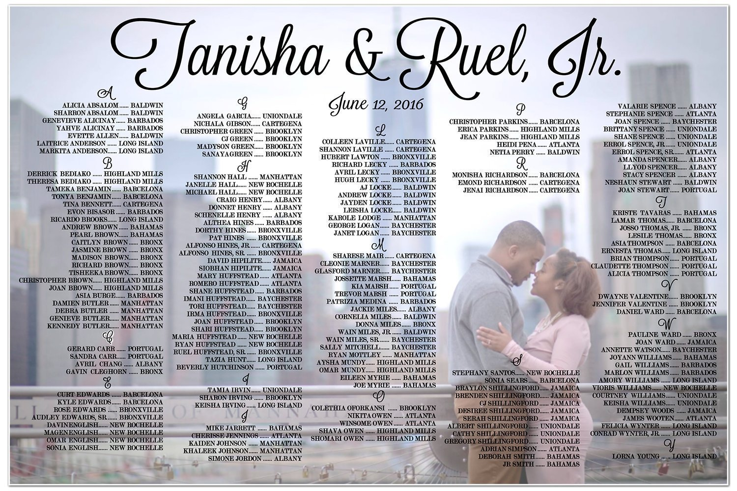 Amazon.com: Personalized Wedding Seating Chart Sign Table Seats ...