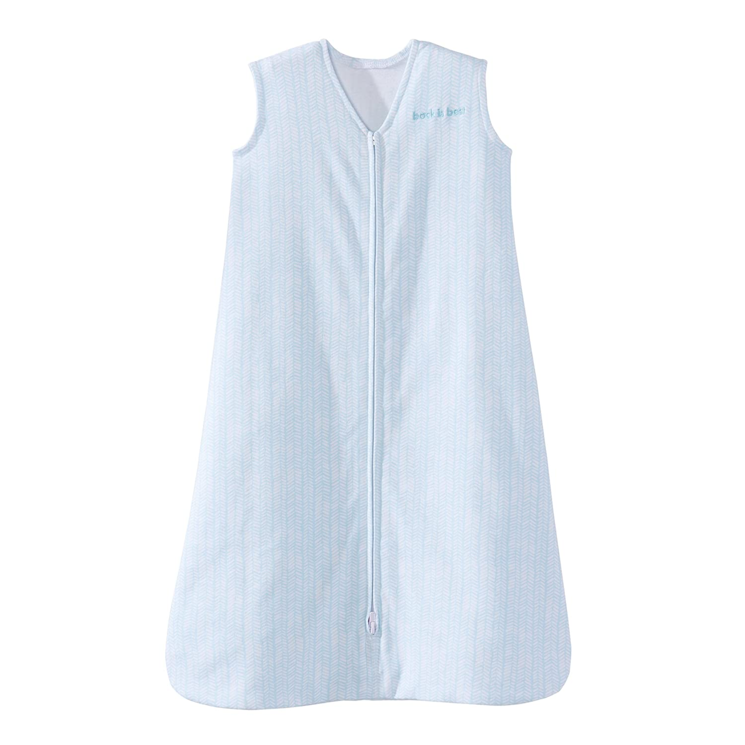 Halo Sleepsack Cotton Wearable Blanket, Aqua Feather, Small