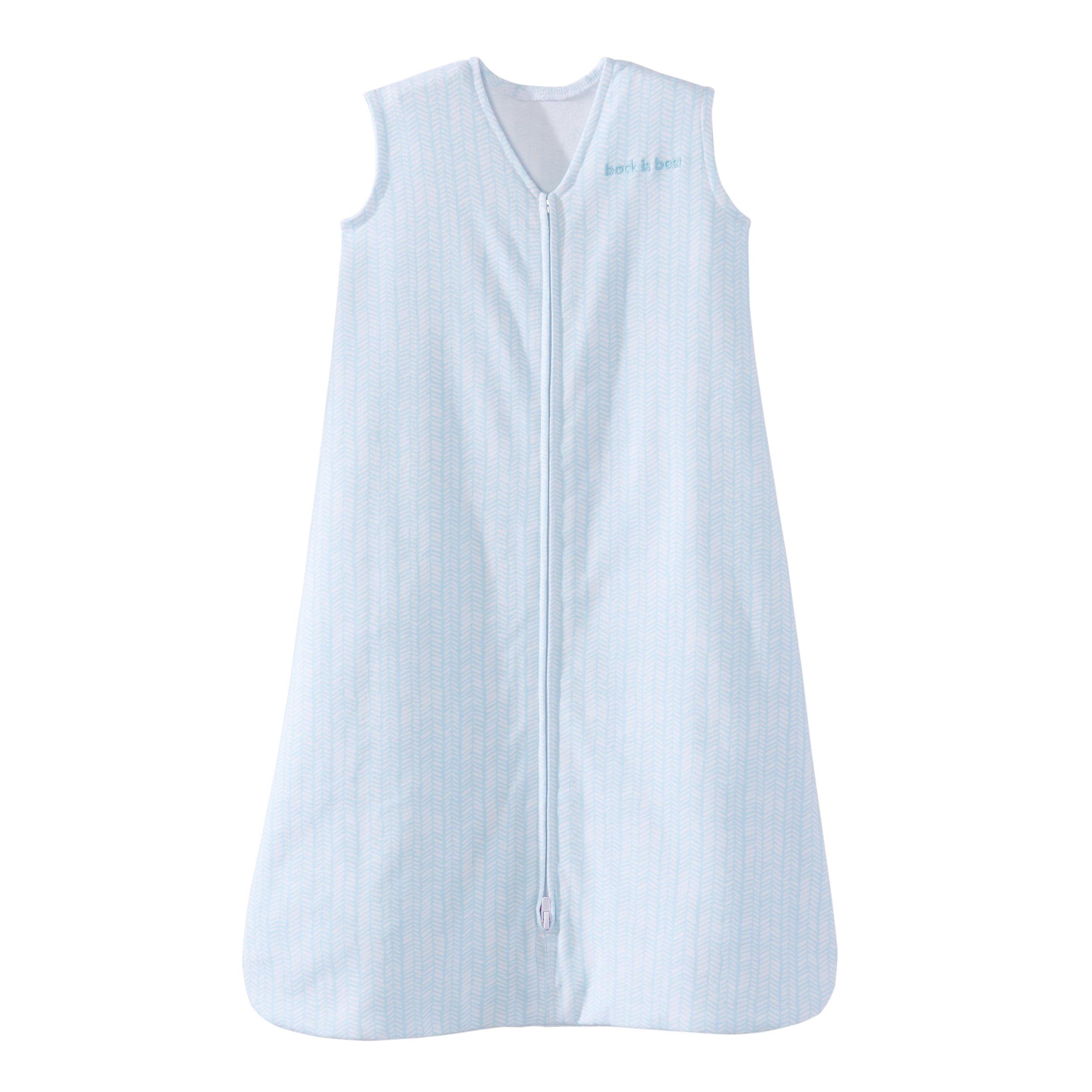Halo SleepSack 100% Cotton Wearable Blanket, Aqua Feather, Medium