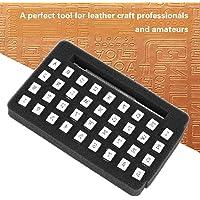 Stempelset voor hoofdletters en cijfers, Stempelset voor cijfers en hoofdletters voor metaal, hout, leer 36-delig(3mm)