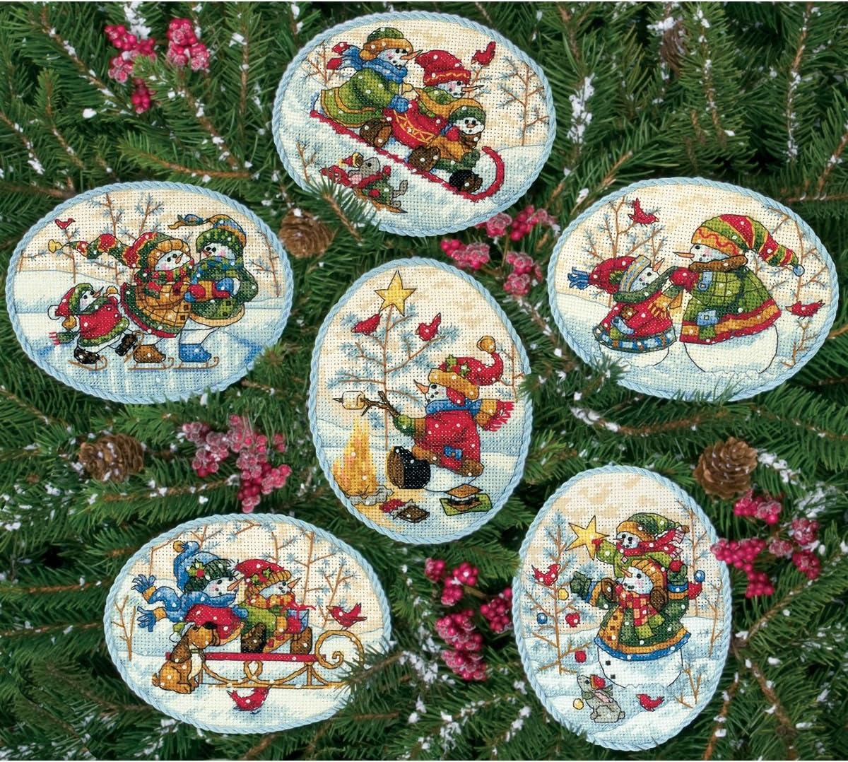 / Verspielte Schneem/änner Ornaments 6/St/ück /Set