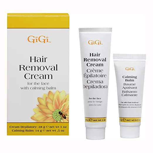 GiGi Facial Hair Removal Cream and Calming Balm Set best hair removal creams for women