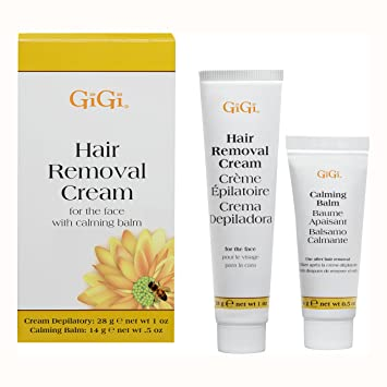 Amazon Com Gigi Facial Hair Removal Cream And Calming Balm Set