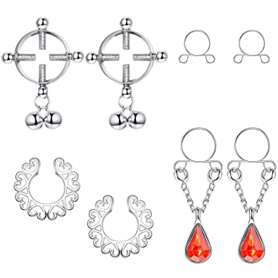 Amazon.com: Thunaraz - 4 pares de piercings falsos para ...