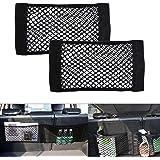 Universal Mesh Cargo Net Velcro Car Storage Net Wall Sticker Organizer Pouch Bag for Car, Pack of 2