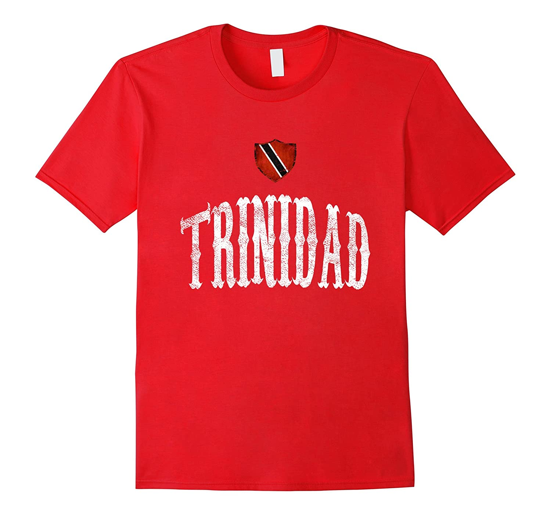 Vintage Trinidad Flag T-shirt Trinidadian Pride Sports-CD
