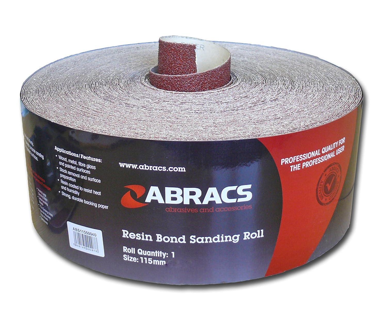 Abracs 115mm x 5m x 40g Sandpaper Roll ABS11505040