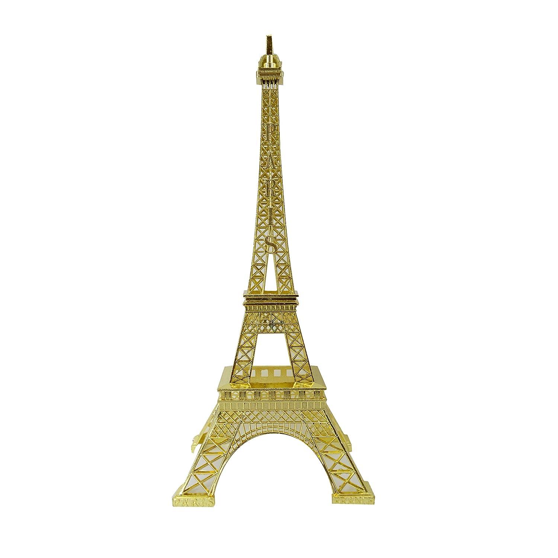 "allgala 15"" Eiffel Tower Statue Decor Alloy Metal, Gold"
