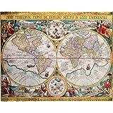 Amazoncom Th Century World Map Poster Print World Globe - 17th century world map