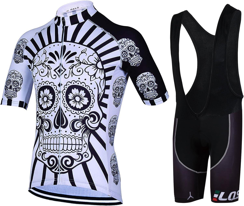 Feilaxleer Ropa Ciclismo Verano para Hombre y Mujer - Un Conjunto de Ciclismo Jersey Maillot y Culotte Pantalones Cortos: Amazon.es: Deportes y aire libre