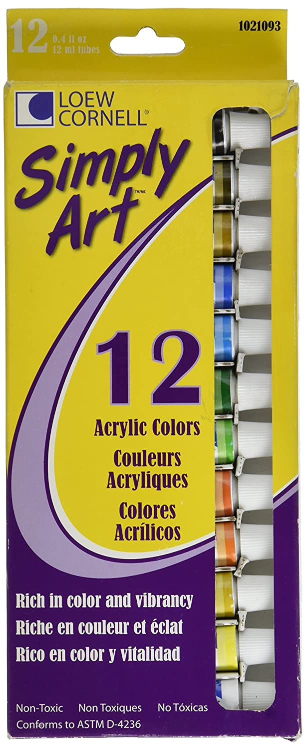 Amazon Com Loew Cornell 1021093 Assorted Colors Acrylic Paint Set