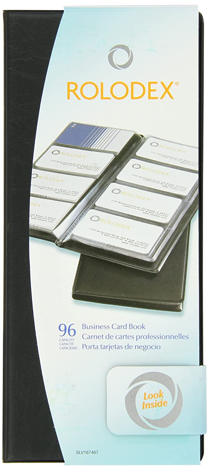 Amazon.com: Rolodex Vinyl Business Card Book with A-Z Tabs, Holds ...