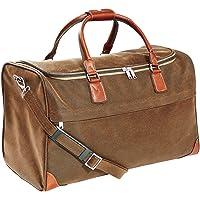 BUTLERS Pack & Ride Reisetasche- Weekender - PVC - Leder-Optik - klassisches Design - 45 l