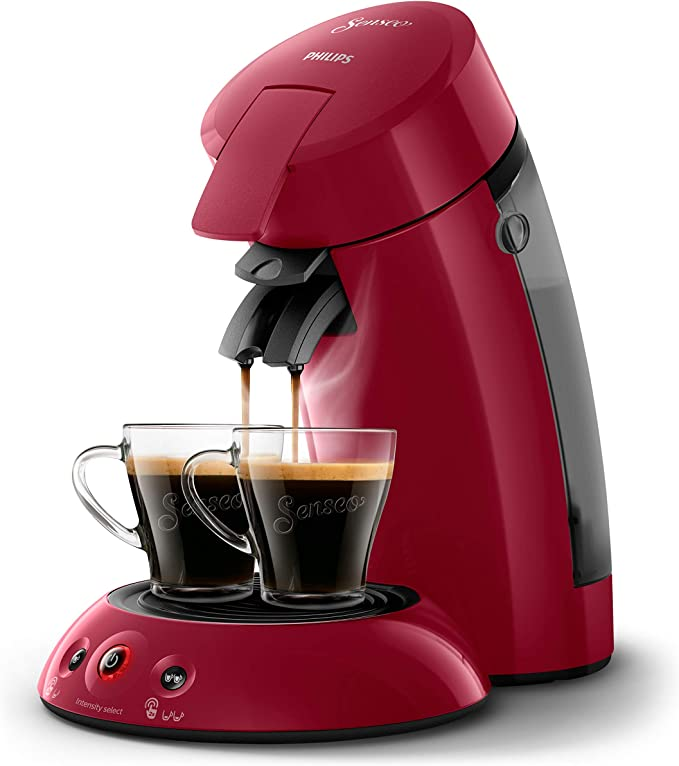 Philips SENSEO Original HD6554/91 - Cafetera monodosis con tecnología Coffee Boost y Crema Plus, selección de intensidad, color rojo: Amazon.es: Hogar