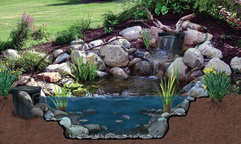 amazon com atlantic water gardens pond filter u0026 waterfall