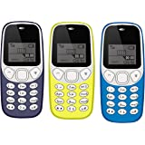 IKALL K71 Mobile Phone Combo (Dark Blue + Yellow + Light Blue) with Vibration Feature, 800 mAh Battery