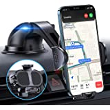 【Strong Steadiness】 Phone Car Holder【Easy to Use】 Car Phone Holder Mount for Dashboard/Windshield 4 in 1 iPhone Car Holder Fi