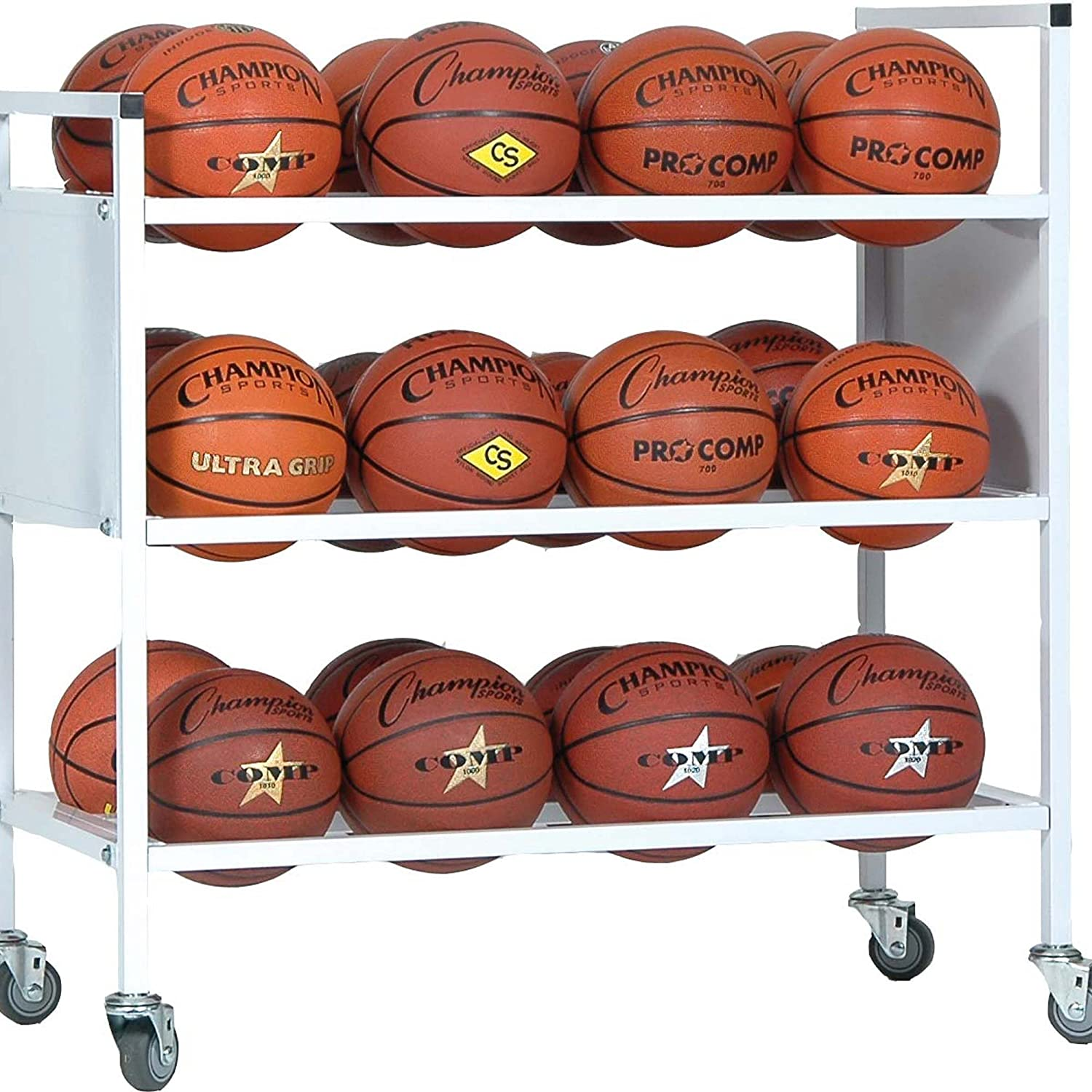 Champion Sports 16-Ball Double-Wide Ball Storage Cart B002EVK166