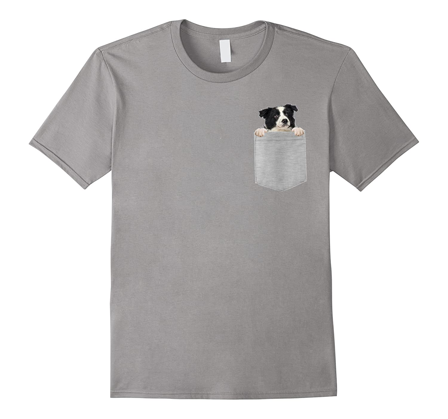Animal in Your Pocket cute Border Collie puppy t-shirt-T-Shirt
