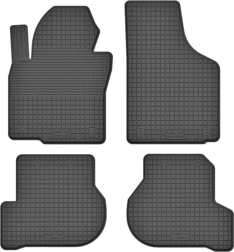 Ko Rubbermat Gummimatten Fußmatten 1 5 Cm Rand Geeignet Zur Skoda Yeti Bj Ab 2009 Ideal Angepasst 4 Teile Ein Set Auto