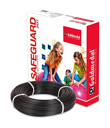 Goldmedal 2.5Sq mm Flame Retardant PVC Insulated Fire Retardant Wire (Black)
