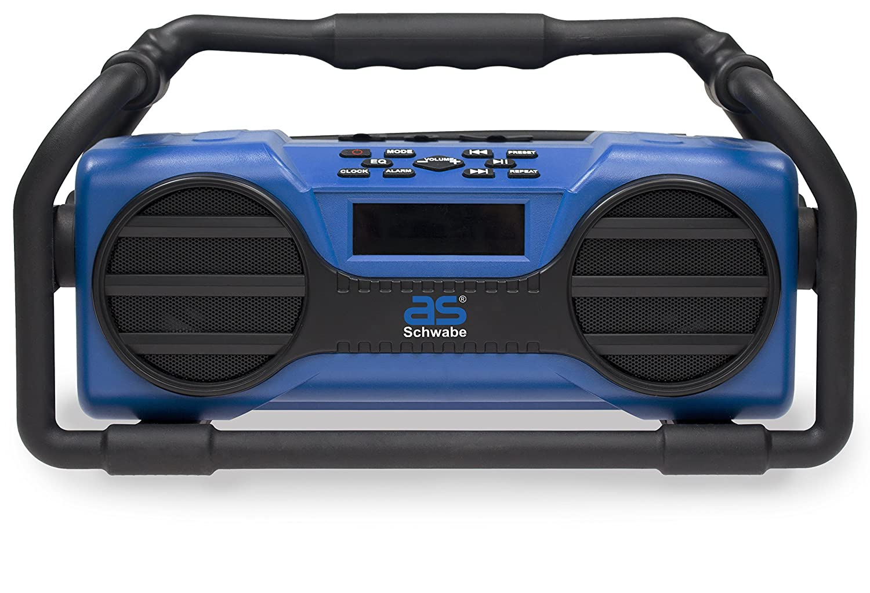 as –  Schwabe Diseñ o de interfaz de radio, bluetooth USB SD de entrada de tarjeta, 1 unidades, color azul, azul, 90750 50 wattsW, 230 voltsV 1unidades as - Schwabe GmbH