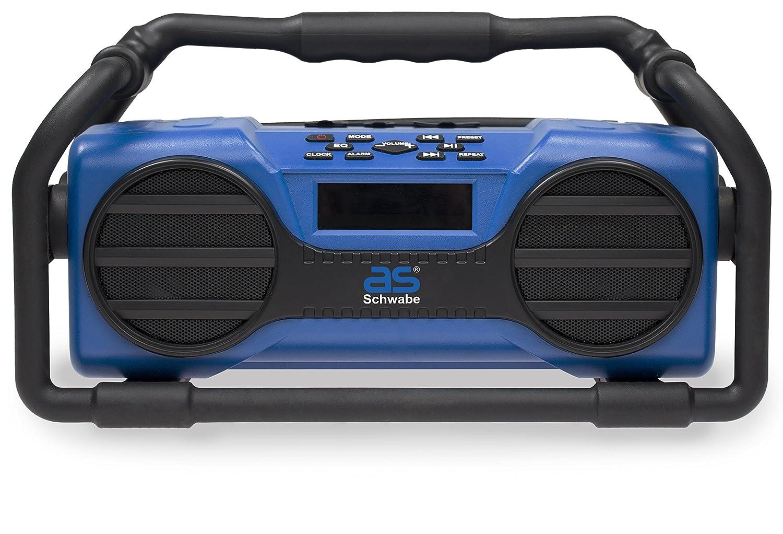 as –  Schwabe Radio de chantier Bluetooth prise USB Carte SD bleu, bleu, 90750 50 wattsW, 230 voltsV as - Schwabe GmbH