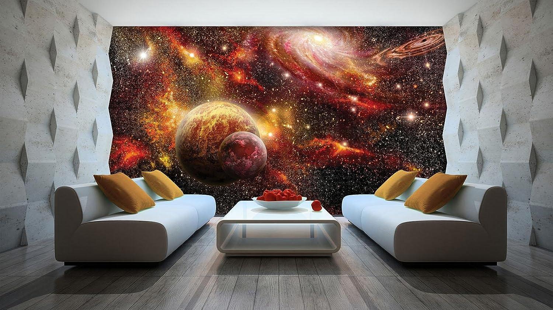 Reisen und W Fototapete Wanddeko Wandtattoo 040140FW Bunter Weltraum Weltkarten