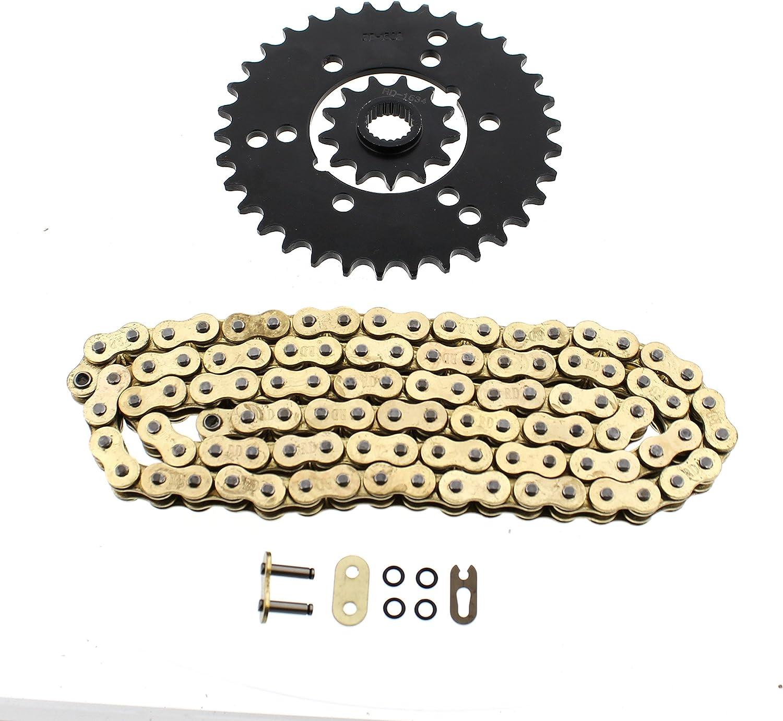 Polaris Xplorer 400 4x4 Gold O Ring Chain /& Rear Sprocket Set