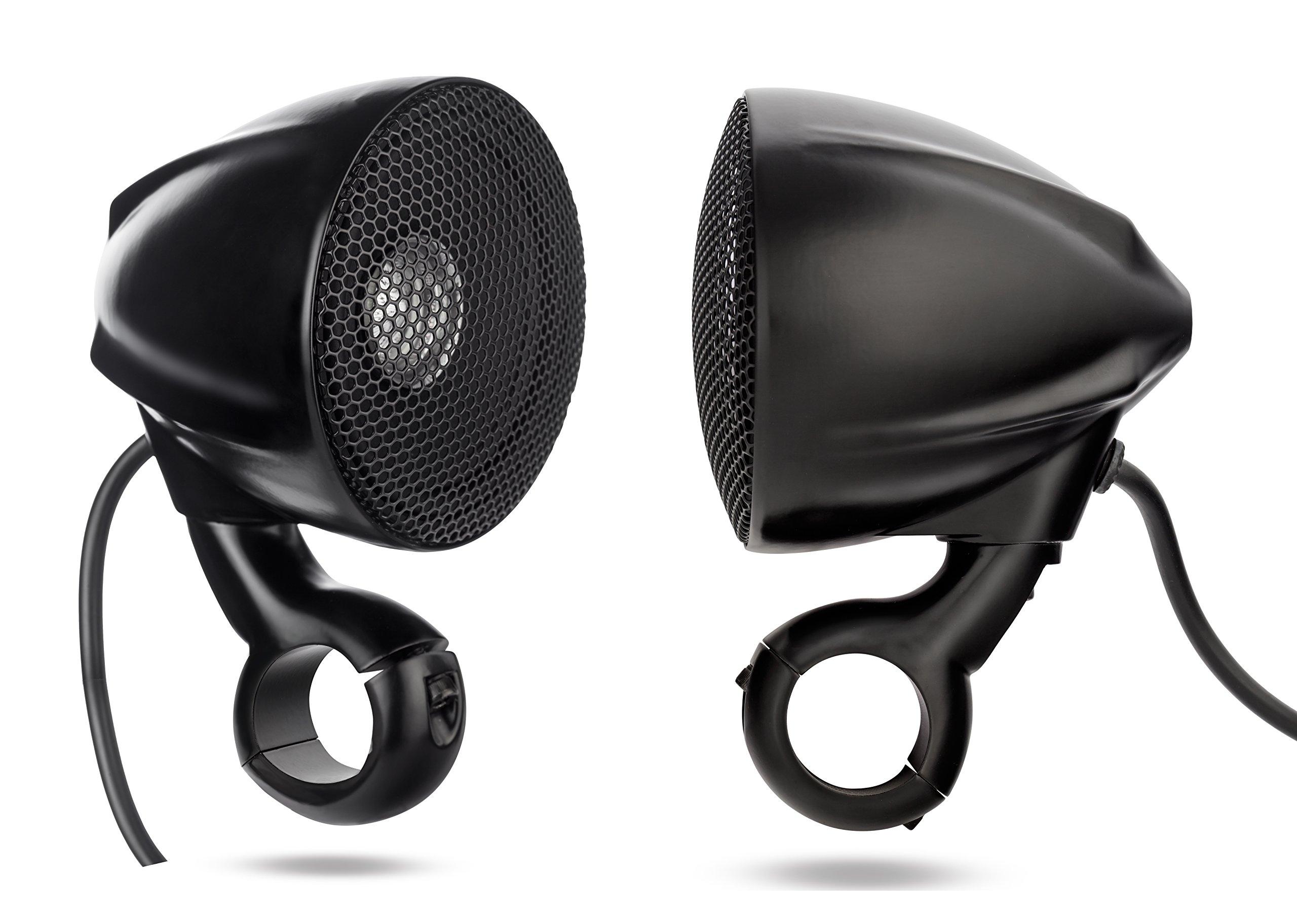 NOAM N3B - ATV/Motorcycle Waterproof Speakers Aluminum made - Black