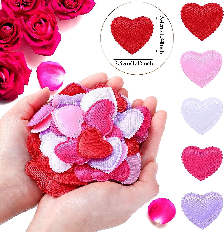 Natale Ringraziamento 600 Pezzi Decorazioni di Coriandoli Cuore Coriandoli di Amore Valentines Day Coriandoli Romantici Misti Decorazione a Forma di Cuore per Nozze Scatter da Tavolo Anniversario