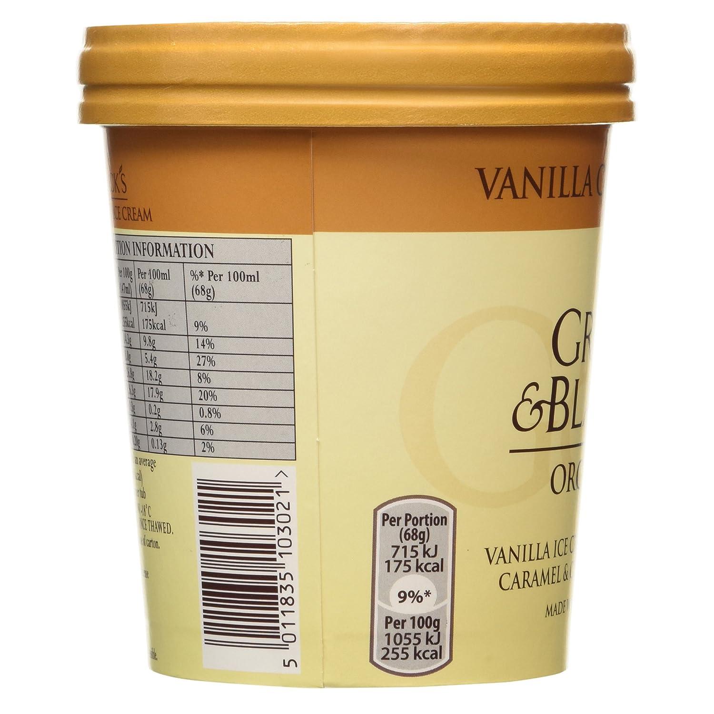 Green & Blacks Organic Vanilla Caramel Nut Ice Cream , 500ml