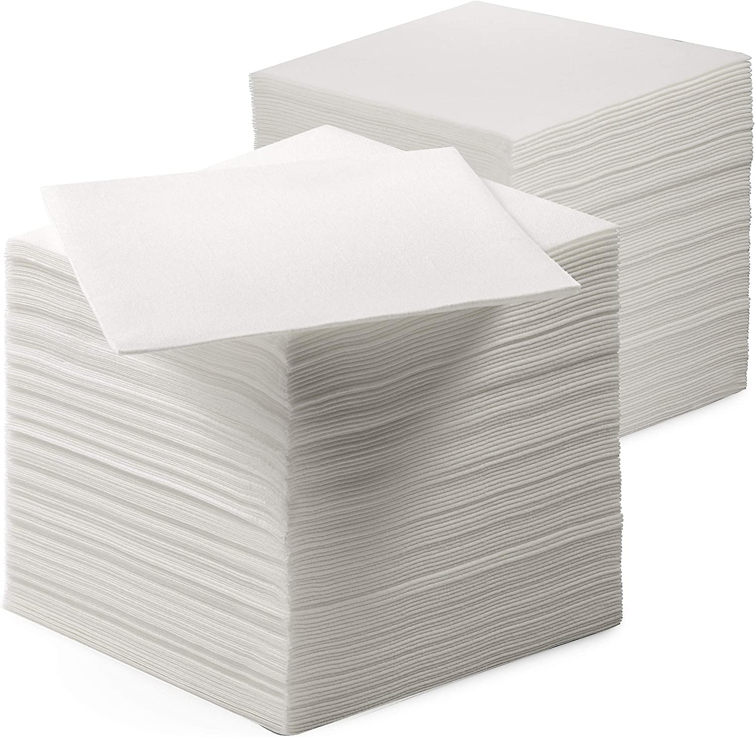 200 Linen-Feel Beverage Napkins - Disposable Cocktail Napkins - Soft & Absorbant Elelgant Paper Napkins For Bar, Café, Restaurant Or Event
