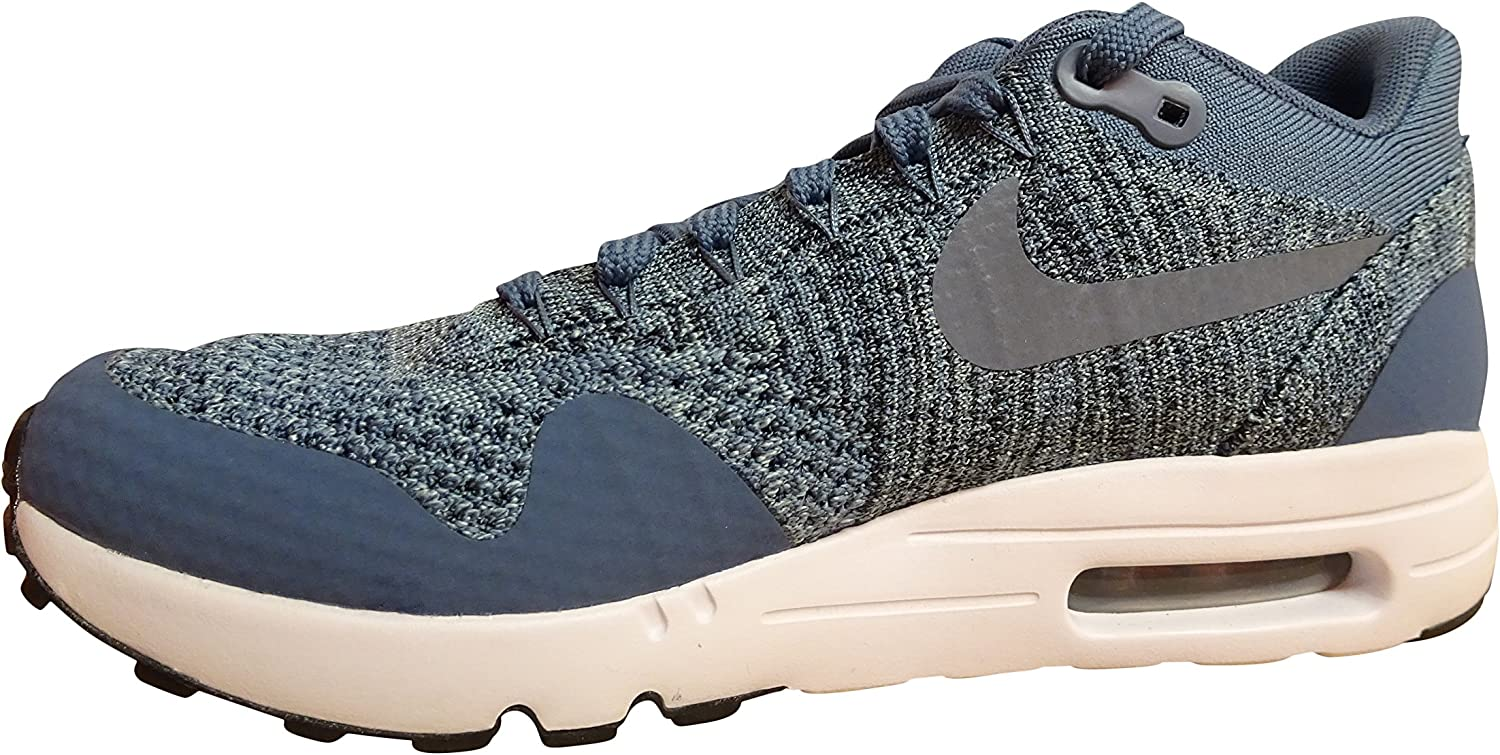 Nike Air Max 1 Ultra 2.0 Flyknit Mens Running Trainers 875942 Sneakers Shoes US 6.5, Ocean Fog mica Blue 400