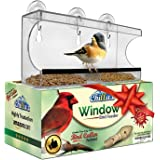 Window Bird Feeder by Chillax with Strong Suction Cups for Outdoors - Unique Large Clear Squirrel Proof Hummingbird Feeders used Outside - Perfect Gift for Kids, Adults and Wild Cardinal Lover