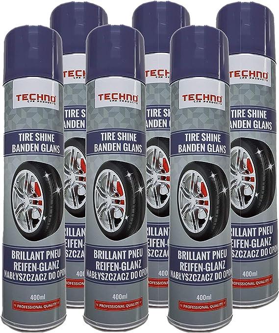 Ve Industries Reifenschaum Reifenschaumreiniger Gummipflege 6x400ml Reifenpflegemittel Tire Cleaner Reifenspray Für Reifenglanz Reifen Reinigung Pflege Schutz 6 Auto