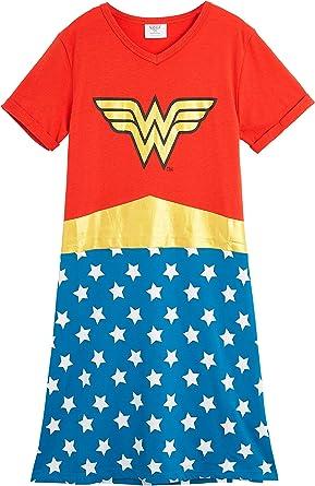 DC Comics Wonder Woman Pijama Mujer, Ropa Mujer 100% Algodon, Camison Mujer Verano Manga Corta, Merchandising Oficial Regalos para Mujer y Chica Adolescente: Amazon.es: Ropa y accesorios