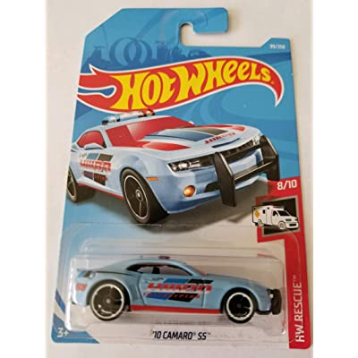 Hot Wheels 2020 Hw Rescue 8/10 - '10 Camaro SS (Light Blue): Toys & Games